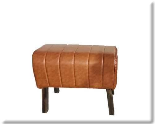 48cm Rolled Natural Faux Leather Gym Pommel Horse Stool